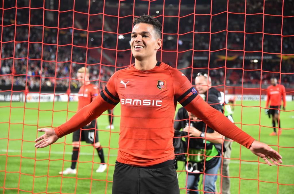 676d4902 Hatem Ben Arfa etter scoring for Rennes i Europa League. (Foto: NTB/Scanpix)